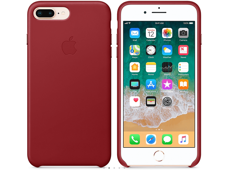 APPLE Θήκη iPhone 8 Plus / 7 Plus Leather Red smartphones   smartliving iphone θήκες iphone smartphones   smartliving αξεσουάρ