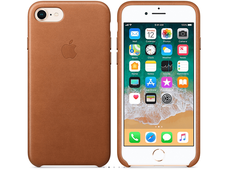 APPLE Θήκη iPhone 8/7 Leather Saddle Brown smartphones   smartliving iphone θήκες iphone smartphones   smartliving αξεσουάρ