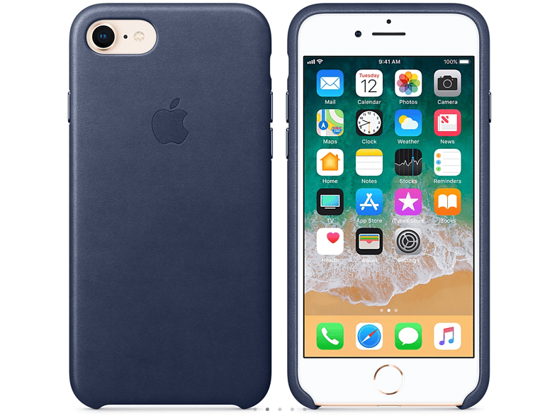APPLE Θήκη iPhone 8/7 Leather Midnight Blue smartphones   smartliving iphone θήκες iphone smartphones   smartliving αξεσουάρ