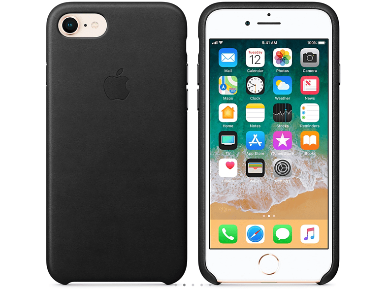 APPLE Θήκη iPhone 8/7 Leather Black smartphones   smartliving iphone θήκες iphone smartphones   smartliving αξεσουάρ