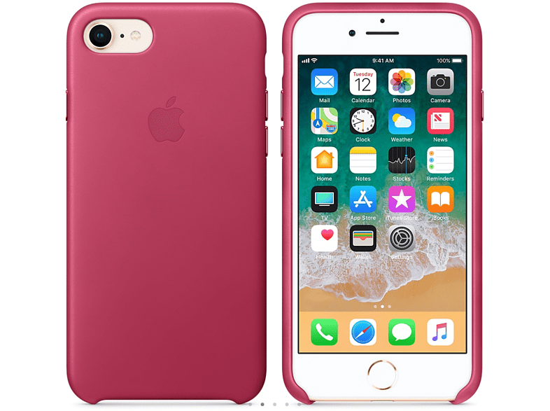 APPLE Θήκη iPhone 8/7 Leather Pink Fuchsia smartphones   smartliving iphone θήκες iphone smartphones   smartliving αξεσουάρ