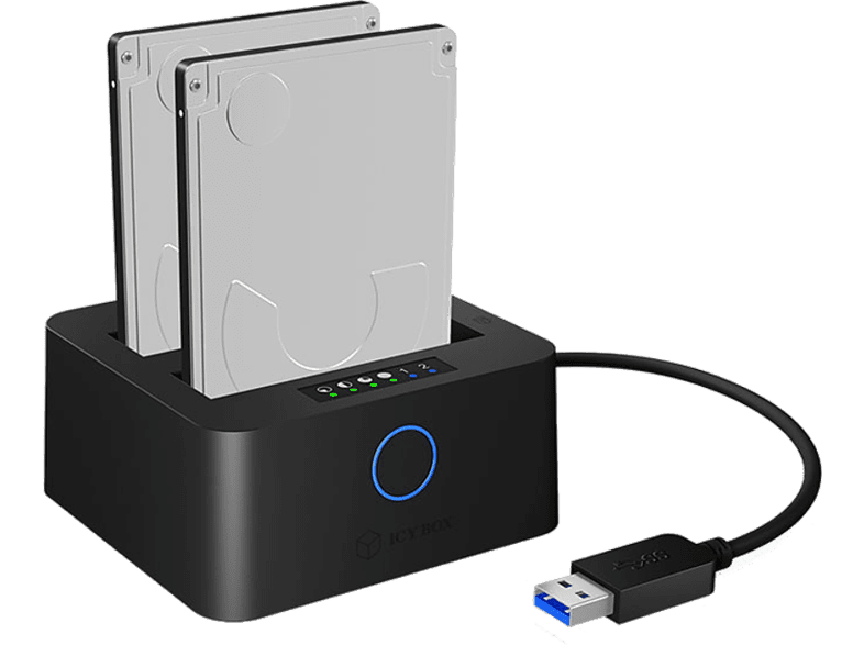 ICY BOX IB-2502CL-U3 Docking station laptop  tablet  computing  αποθήκευση δεδομένων θήκες για σκληρούς δίσκους