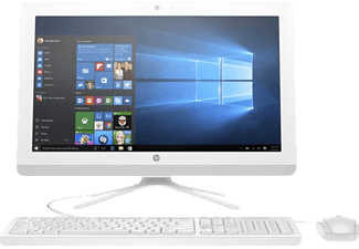 HP 22-B011NG, All-In-One-PC mit 21.5 Zoll, 1 TB Speicher, 4 GB RAM, Pentium® Prozessor, Weiss