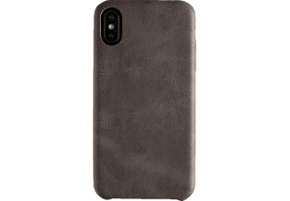 SPADA Alcantara, Apple, Backcover, iPhone X, Microfaser, Braun