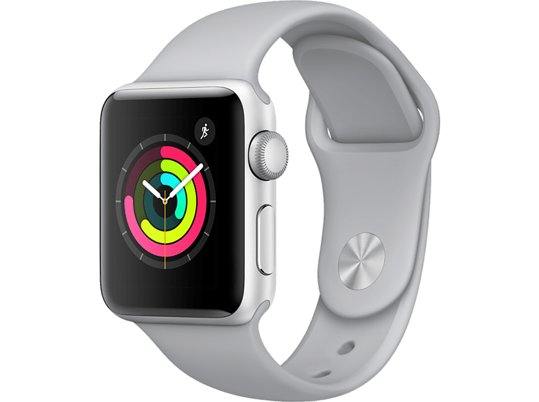 APPLE Watch Series 3 42mm Silver με γκρι sport band smartphones   smartliving wearables smartwatches