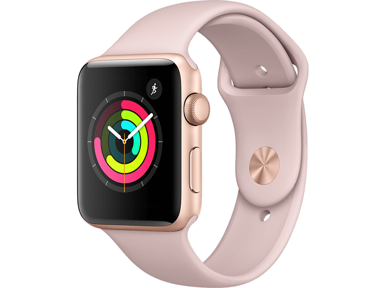 APPLE Watch Series 3 38mm Gold με ροζ sport band smartphones   smartliving wearables smartwatches