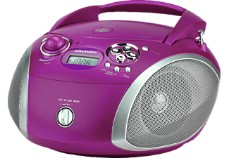 GRUNDIG GRB 2000 USB, CD Radio, Purple/Silber