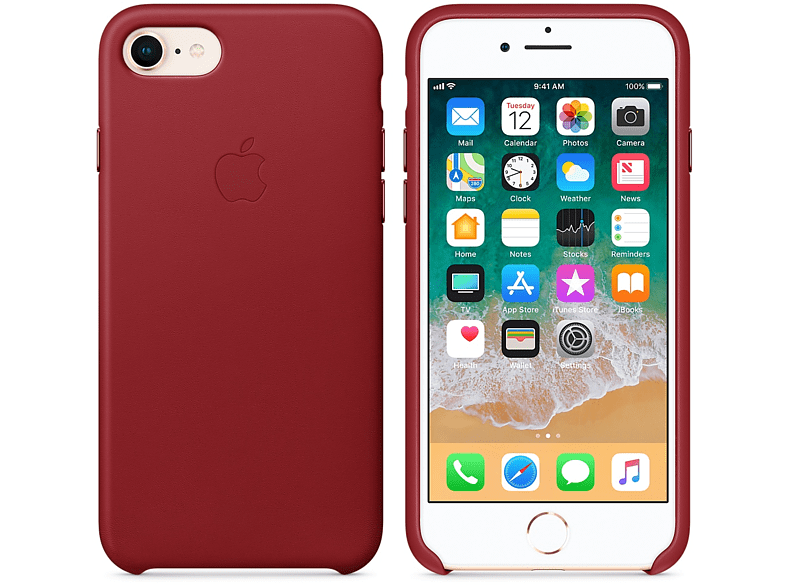 APPLE Θήκη iPhone 8/7 Leather Red smartphones   smartliving iphone θήκες iphone smartphones   smartliving αξεσουάρ