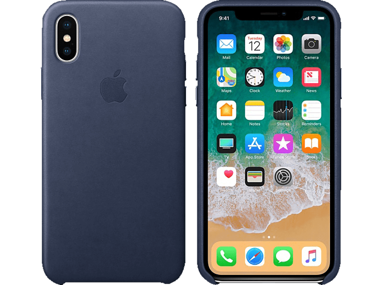 APPLE Θήκη iPhone X Leather Midnight Blue smartphones   smartliving iphone θήκες iphone smartphones   smartliving αξεσουάρ