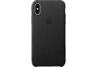 iPhone X Leder Case Backcover Apple iPhone X Leder Schwarz