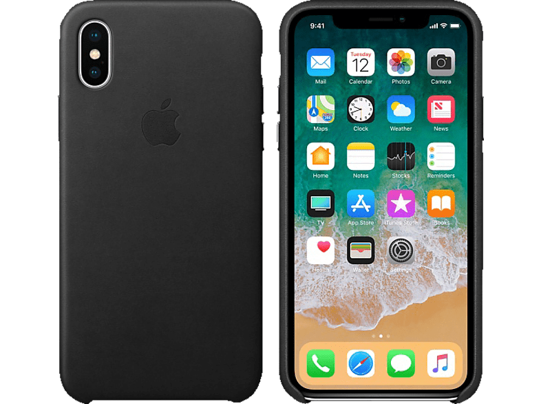 APPLE Θήκη iPhone X Leather Black smartphones   smartliving iphone θήκες iphone smartphones   smartliving αξεσουάρ