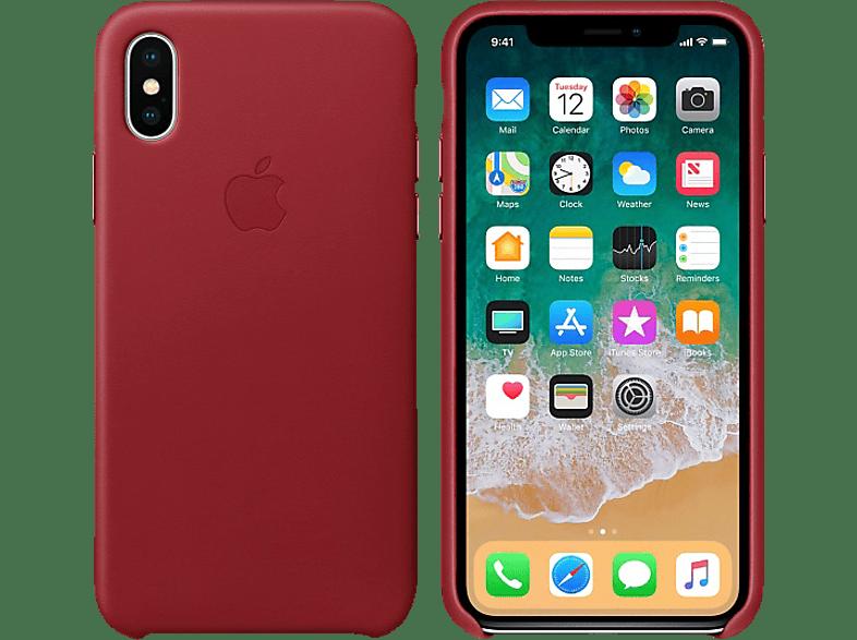 APPLE Θήκη iPhone X Leather Red smartphones   smartliving iphone θήκες iphone smartphones   smartliving αξεσουάρ