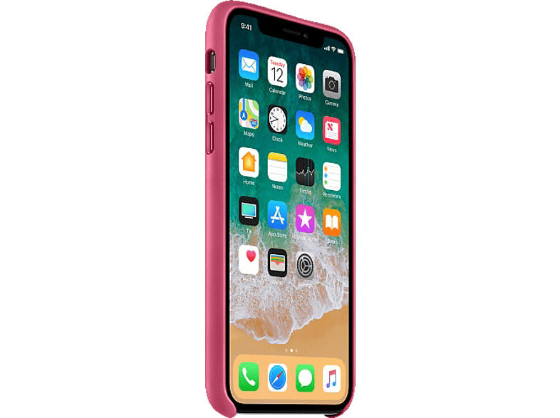 APPLE Θήκη iPhone X Leather Pink Fuchsia smartphones   smartliving iphone θήκες iphone smartphones   smartliving αξεσουάρ