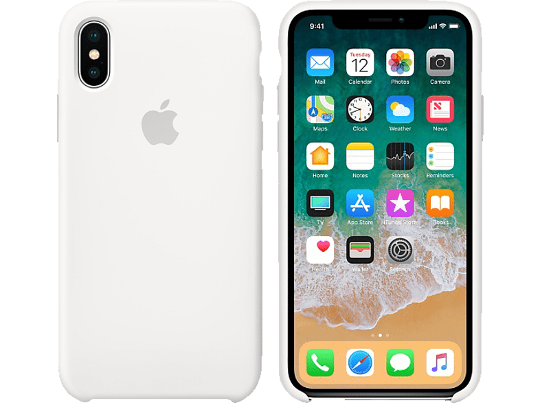 APPLE Θήκη iPhone X Silicone White smartphones   smartliving iphone θήκες iphone smartphones   smartliving αξεσουάρ
