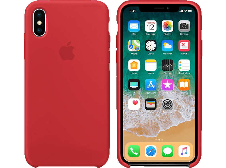 APPLE Θήκη iPhone X Silicone Red smartphones   smartliving iphone θήκες iphone smartphones   smartliving αξεσουάρ