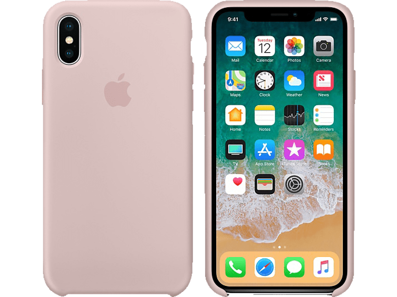 APPLE Θήκη iPhone X Silicone Pink Sand smartphones   smartliving iphone θήκες iphone smartphones   smartliving αξεσουάρ