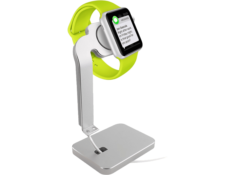 PURO Aluminum Desk Holder For Apple Watch Silver smartphones   smartliving αξεσουάρ κινητών