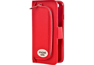 V-DESIGN W-2-1 009 Wallet 2-in-1 Bookcover Apple iPhone 6, iPhone 6s  Rot