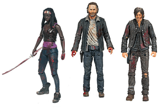 The Walking Dead Actionfiguren set Rick, Michonne, Daryl