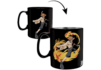 One Piece Thermoeffekt Tasse Luffy & Ace