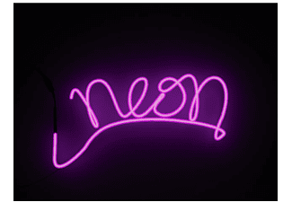 close up neonlicht effekt schriftzug diy neon. Black Bedroom Furniture Sets. Home Design Ideas
