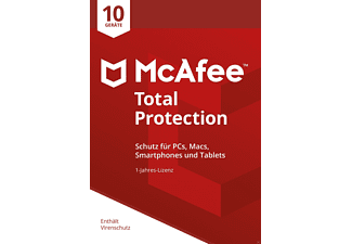 McAfee Total Protection 10 Device für PC/Mac/Smartphone/Tablet (Code in a Box)