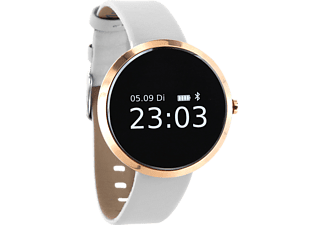 XLYNE PRO SIONA XW FIT (54008), Smart Watch, Kunstleder, 185 mm x 18 mm, Gehäuse: Gold / Armband: Pure Polar White