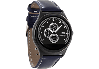 XLYNE PRO QIN XW PRIME II (54014), Smart Watch, Echtleder, 210 mm x 22 mm, Gehäuse: Black Chrome / Armband: Navy Blue