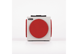 GAME OUTLET EUROPE AB Retro Cube Bluetooth Speaker , Bluetooth Lautsprecher, Weiß/Rot