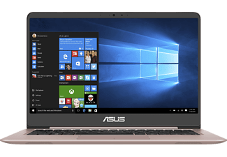 ASUS UX3410UA-GV641T, Notebook mit 14 Zoll Display, Core™ i7 Prozessor, 16 GB RAM, 512 GB SSD, HD Grafik 620, Rose Gold