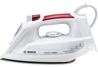 BOSCH TDA 2024010, Dampfbügeleisen, Weiß/Rot