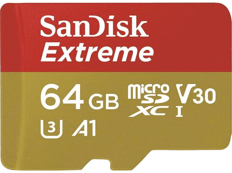 SAN DISK SANDISK 64GB MICRO SD EXTREME 90 MB/sec FOR ACTION CAM