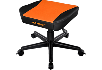 AKRACING AK-Footstool, Fusshocker, Schwarz/Orange