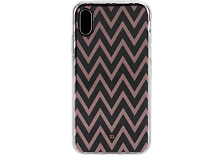 XQISIT Shell Backcover voor Apple iPhone X Transparant Zigzag