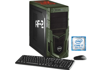 HYRICAN MILITARY GAMING 5685, Gaming PC mit Core™ i7 Prozessor, 16 GB RAM, 240 GB SSD, 1 TB HDD, Geforce® GTX 1080, 8 GB GDDR5 Grafikspeicher