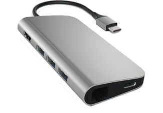SATECHI USB Type-C Multi-Port Adapter 4K Gbit Ethernet - Grå
