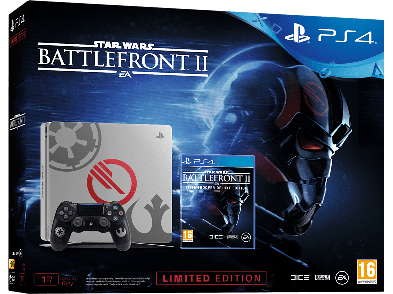 SONY PS4 1ΤΒ E Chassis Limited Edition + Star Wars Battlefront II gaming κονσόλες κονσόλες ps4