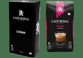 CAFE ROYAL CREMA 1KG BOHNEN+DOSE, Kaffeebohnen