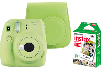 FUJIFILM Instax Mini 9 + Case + Film Sofortbildkamera , Lime Green