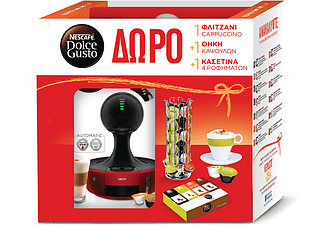 KRUPS Nescafe Dolce Gusto Drop Red + Gift Box