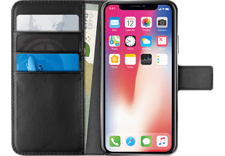 PURO Wallet-Case Bookcover Apple iPhone X  Schwarz