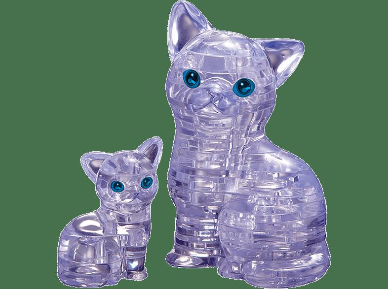 Crystal Puzzle Γάτα & Γατάκι Διαφανή (90126) gaming παιχνίδια