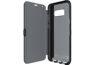 TECH21 Evo Wallet Bookcover Samsung Galaxy S8+  Schwarz