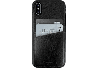 PURO Shine Pocket Backcover Apple iPhone X  Schwarz