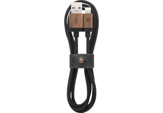 WOODCESSORIES EcoCable, Lightning Kabel, 1.2 m, Schwarz