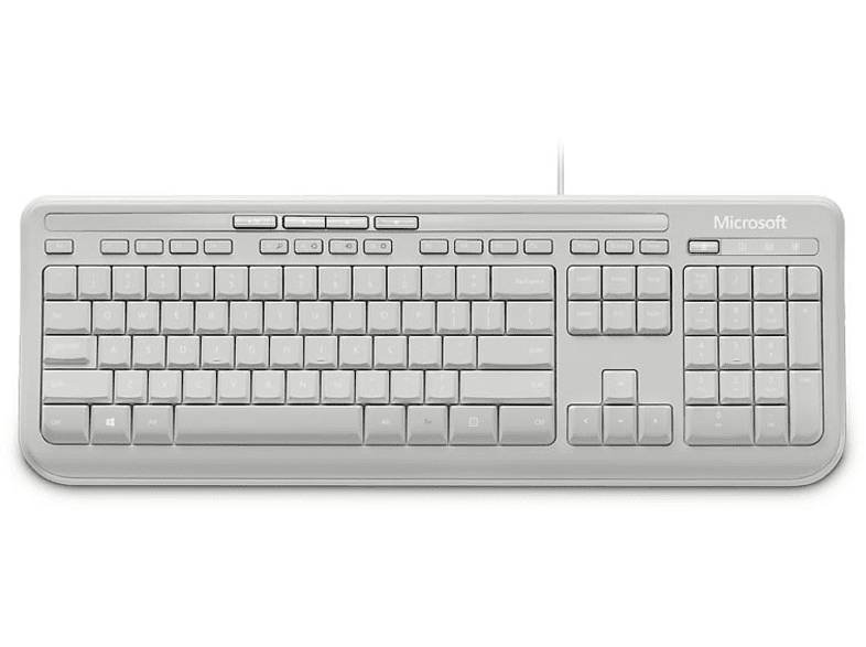 MICROSOFT Microsoft Wired Keyboard 600 GR White - (ANB-00031) laptop  tablet  computing  περιφερειακά πληκτρολόγια   ποντίκια