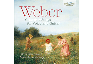 Cigna,Patrizia/Sebastiani,Adriano - Weber-Complete Songs For Voice And Guitar [CD]