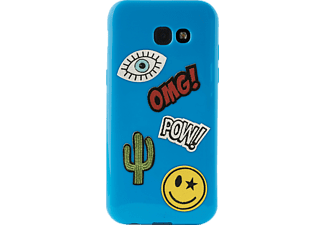 PURO Patch Mania Backcover Samsung Galaxy A3 2017  Blau