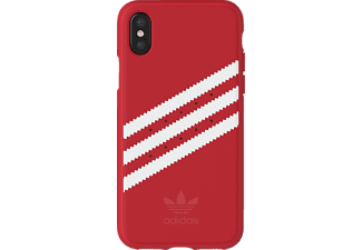 ADIDAS Originals Stripes Case iPhone X Handyhülle, Rot/Weiß