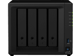 SYNOLOGY DS418PLAY 4-BAY NAS-CASE, 0 TB, Schwarz